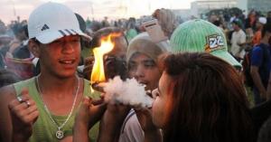Marcha da Maconha no gramado do Congresso Nacional, participantes reivindicam a legalização da maconha, em 25 de maio de 2014 / Foto: Luis Macedo/ Câmara dos Deputados (23/05/2014)