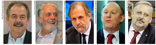 Aloizio Mercadante, Jaques Wagner, Miguel Rossetto, Pepe Vargas e Ricardo Berzoini: os cinco homens da presidente Dilma Rousseff