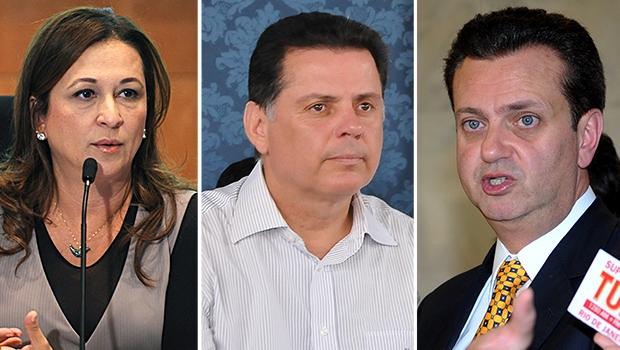 Marconi (ao centro) participa de posse novos ministros de Dilma | Fotos: Fabio Rodrigues Pozzebom (ABr), Lailson Damasio e Marcello Casal Kr (ABr)