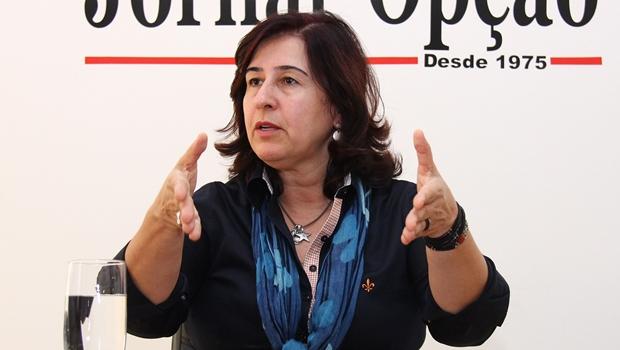 Marina Sant'Anna concede entrevista ao Jornal Opção   Foto: Fernando Leite