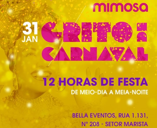 Flyer da festa Mimosa