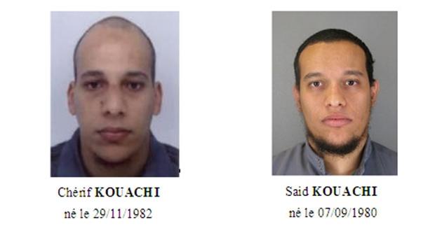 Irmãos Said Kuachi e Cherif Kuachi são procurados pela polícia francesa