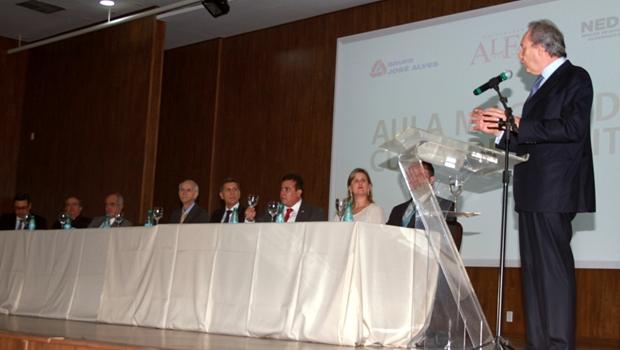 Na aula, o ministro falou sobre os desafios do Poder Jurídico | Foto: Leo Iran