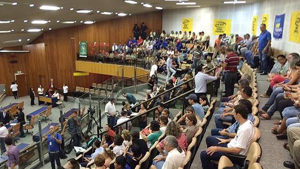 Galerias da Casa estão ocupadas por servidores   Foto: Câmara de Goiânia/Twitter