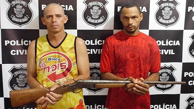 Assassinos confessos: Barriga e Zé Preto (à esquerda) podem pegar pena de 60 anos | Foto: Divulgação/Polícia Civil