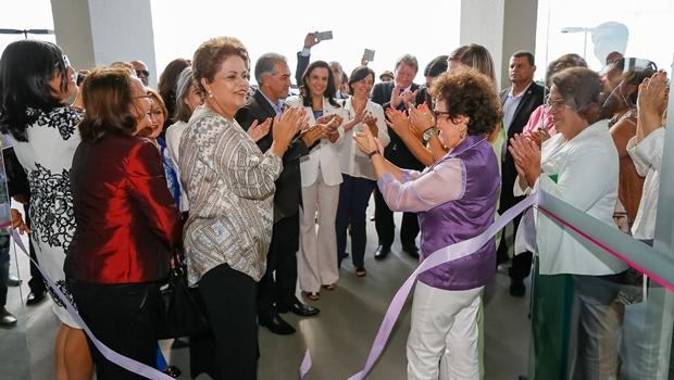 Em cerimônia de inauguração da primeira Casa da Mulher Brasileira, presidente Dilma Rousseff defende avanço nas leis que criminalizam a violência contra a mulher   Foto: Foto: Roberto Stuckert Filho/ PR