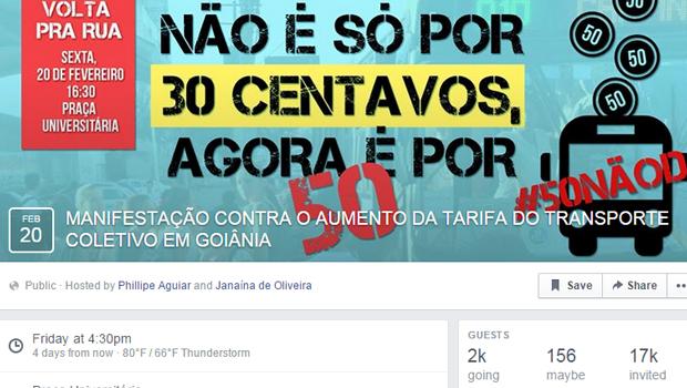 Manifestação contra reajuste da tarifa de ônibus tem mais de 2 mil confirmados