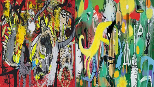 """As obras de G. Fogaça e Pitágoras Lopes estarão presentes na exposição """"Boderline"""", que tem abertura nesta quarta-feira, 14. As simultâneas individuais trazem o universo caótico dos artistas"""