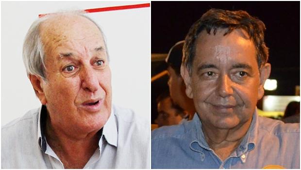 Mané de Oliveira e Nédio Leite se desentenderam na eleição da nova mesa diretora da Alego | Fotos: Jornal Opção / Facebook Nédio Leite