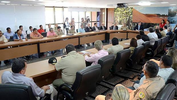 Em reunião com representantes sindicais, Marcelo Miranda falou da necessidade de um amadurecimento administrativo e político   Foto: Tharson Lopes/Secom