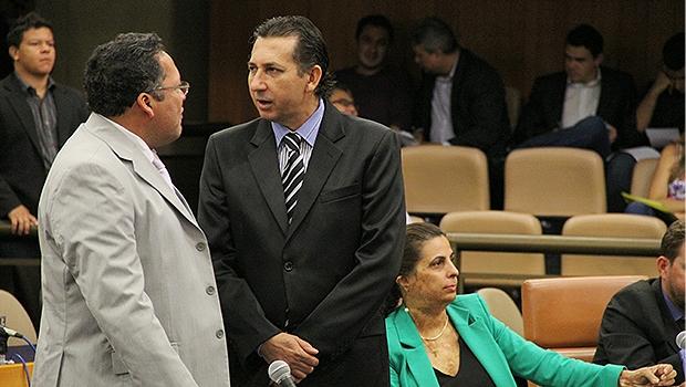Paulo da Farmácia (à direita) com o parceiro de Bloco e partido, DIvino Rodrigues | Foto: Alberto Maia/Câmara de Vereadores
