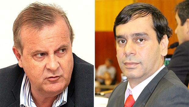 Prefeito Paulo Garcia (à esquerda) e vereador Wellington Peixoto: Pros pode se tornar oposição | Fotos: Fernando Leite/Jornal Opção e Câmara de Goiânia