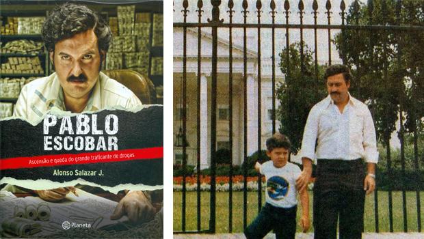 Livro revela que Pablo Escobar funcionava como Estado paralelo Pablo Escobar e seu filho, Juan Pablo, em frente à Casa Branca, em Washington. Mais tarde, foi caçado e morto pela polícia e paramilitares