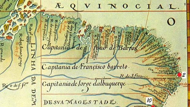 OBrasil colonial dividido em capitanias hereditárias: negligência portuguesa foi adubo para a corrupção / Reprodução