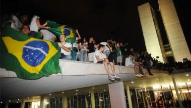 Ocupação da parte externa do Congresso Nacional, em 2013: manifestação que arrefeceu sem consequências   Foto: José Cruz/ABr