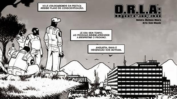 """Onde adquirir """"O.R.L.A"""": Na loja de quadrinhos Hocus Pocus, Avenida Araguaia, 957, Goiânia. Ou, então, pelo site www.ugrapress.webstorelw.com.br/products/o-dot-r-l-dot-a-liberdade-aos-animais"""