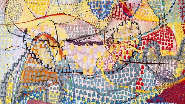 Acrílica sobre tela do artista goiano Diogo Miranda, que é representado pela galerista Carolina Isaac / Divulgação