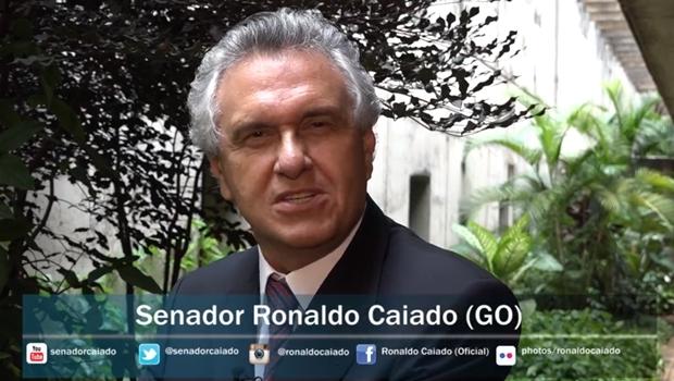 Caiado convoca, em vídeo, brasileiros para manifestações de domingo (15/3) | Foto: reprodução/vídeo