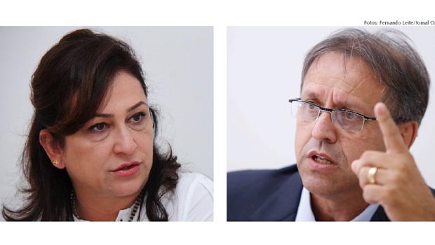 Kátia Abreu e Marcelo Miranda:divergências do início de 2015 parecem não ter sido curadas e disso depende futuro do PMDB | Fotos: Fernando Leite/Jornal Opção