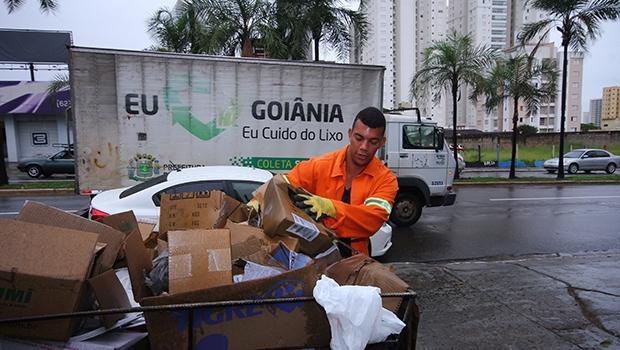 Coleta seletiva tem operado, mas ainda é preciso aumentar o alcance de captação de resíduos recicláveis / Fernando Leite/Jornal Opção