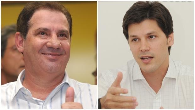 Vanderlan Cardoso (PSB) e deputado federal Daniel Vilela (PMDB) / fotos: divulgação
