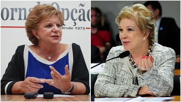 Senadoras Lúcia Vânia e Marta Suplicy têm em comum o próximo passo: rumo ao PSB | Fotos: Fernando Leite/Jornal Opção e Reprodução/Facebook