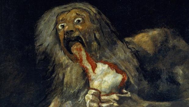 """""""Saturno devorando um filho"""", de Francisco de Goya"""
