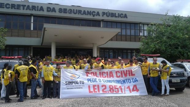 Policiais Civis do Estado estão de greve desde a última quarta-feira (25) | Foto: reprodução / Sinpol - TO
