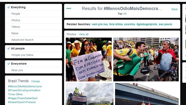 Manifestações contra governo tomam conta das redes sociais