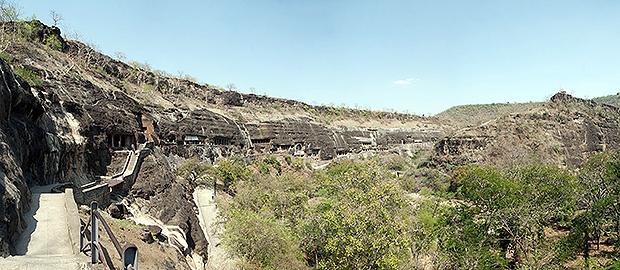 Complexo de cavernas Ajanta Caves, em Aurangabad