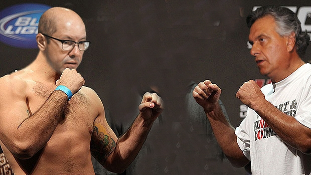Ronaldo Caiado e Demóstenes Torres no ringue: enquanto os ex-amigos brigam,  o PMDB de Iris Rezende observa para ver como fica lá na frente