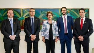 Na foto, presidente Dilma Rousseff com representantes do Google, Twitter e Facebook | Foto:  Roberto Stuckert Filho/PR