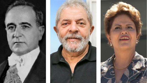 Getúlio Vargas criou a Petrobrás; e os governos petistas, do ex-presidente Lula da Silva e da presidente Dilma Rousseff, podem destrui-la. Empresa petrolífera era o símbolo de um Brasil que funcionava, porém não é mais | AWikipédia Commons / Ricardo Stuckert/ Instituto Lula / Antonio Cruz/ Agência Brasil