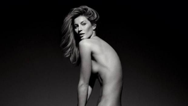 Em edição histórica, Gisele Bündchen posa nua na capa da Vogue Brasil