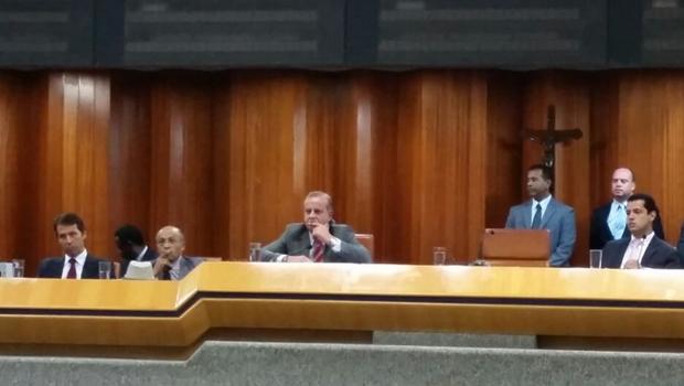 Prefeito Paulo Garcia durante prestação de contas | Foto: Marcello Dantas