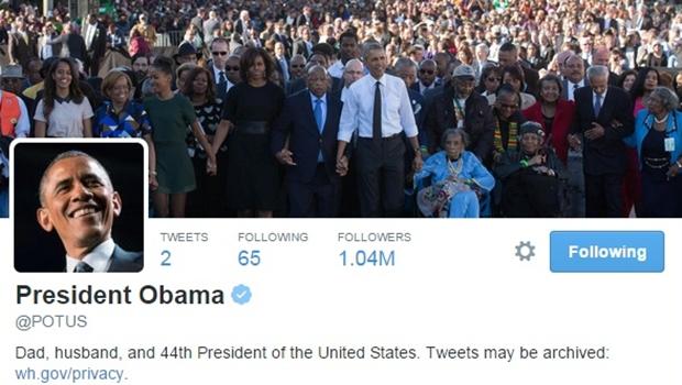 """Obama estreia no Twitter. """"Finalmente me deram minha conta própria"""""""