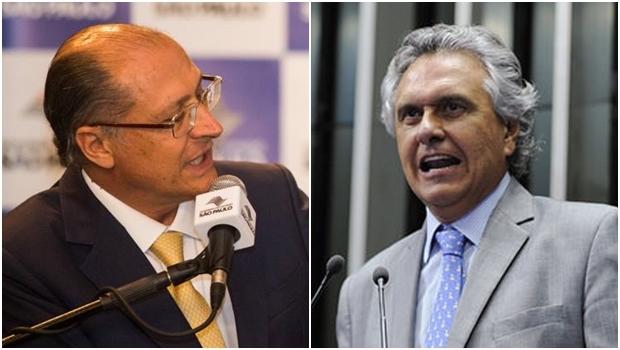 Governador de São Paulo e senador Ronaldo Caiado: dobradinha PSDB/DEM para 2018?