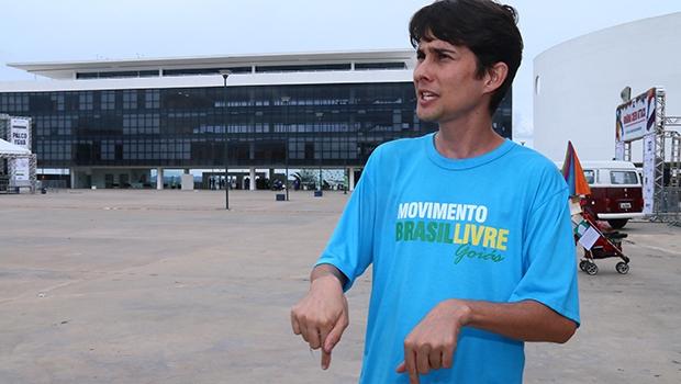 Alexandre Seltz, líder regional dos ativistas do Movimento Brasil Livre (MBL) em Goiás, assume posição mais conservadora  | Foto: Fernando Leite / Jornal Opção