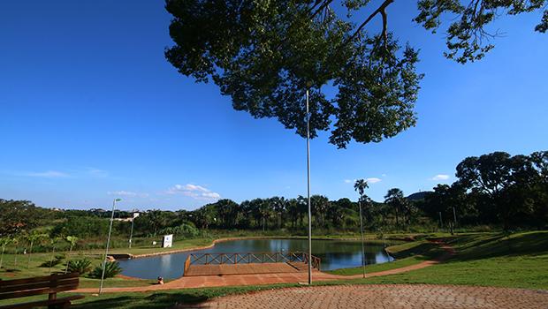 Parque Boa Vista, de 250 mil metros quadrados de área verde, é símbolo da qualidade de vida em Senador Canedo  | Foto: Fernando leite/Jornal Opção