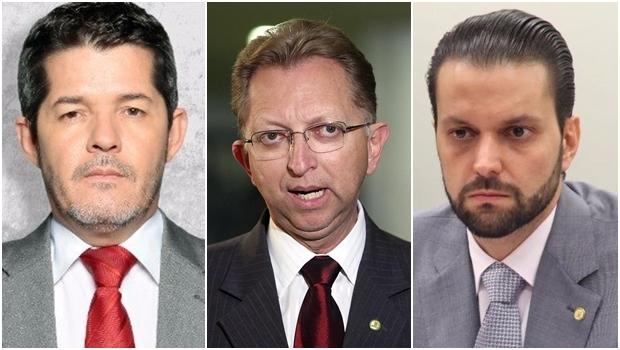 Deputados Delegado Waldir, João Campos e Alexandre Baldy podem estar de saída do PSDB | Fotos: reprodução / Facebook