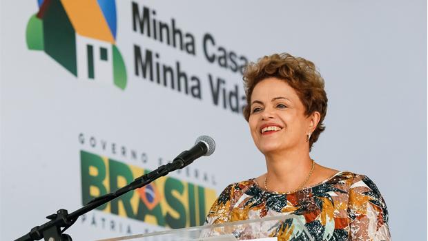 Dilma durante discurso na entrega de moradias do Minha Casa, Minha Vida | Foto: Roberto Stuckert Filho/ PR