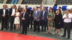 Hilton destacou a importância da obra para o futuro do esporte em Goiás   Foto: Reprodução Governo de Goiás