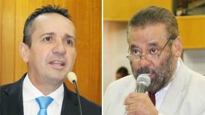 Vereadores Geovani Antônio (do PSDB, à esquerda) e Paulo Magalhães (SD) | Fotos: Câmara de Goiânia