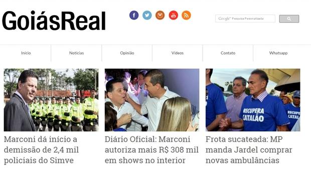 Objetivo do Goiás Real é abastecer o Google de notícias negativas sobre Marconi Perillo