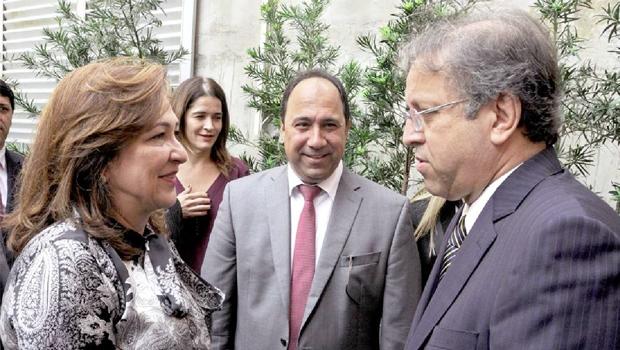 Ministra Kátia Abreu e governador Marcelo Miranda:separados por brigas políticas, reaproximados pelo desenvolvimento | Foto: Elizeu Oliveira/Secom