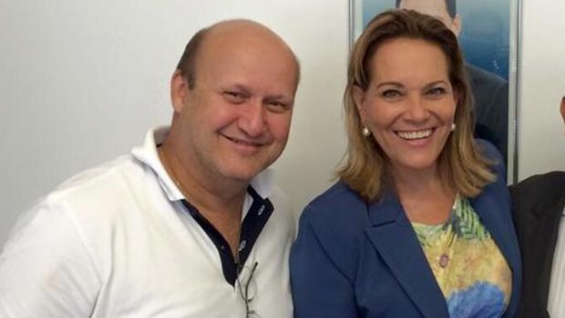 Deputado Célio Silveira e a aliada, Lêda Borges   Foto: reprodução / Facebook