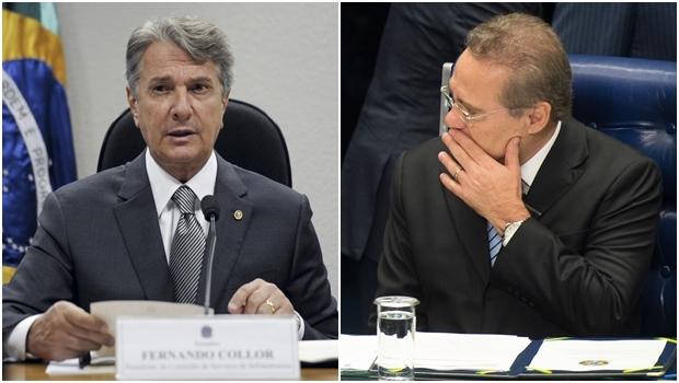 Fernando Collor (esquerda) e Renan Calheiros estão sendo investigados na Operação Lava Jato | Fotos: Fotos Públicas