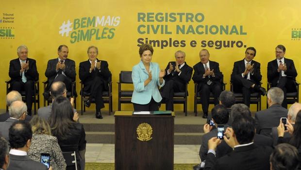 Além da presidente, estavam presentes Michael Temer, Ricardo Lewandovski, José Sarney e Dias Toffoli | Foto: Isaac Amorim/ MJ