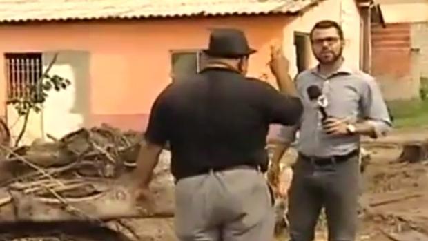 Bate boca em reportagem do SBT | Foto: reprodução / vídeo