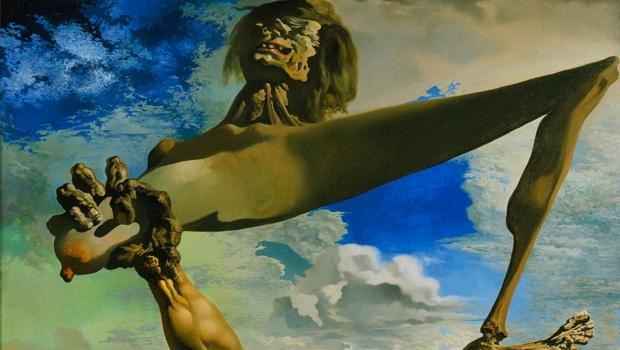 Quadro Premonição da Guerra civil, de Salvador Dalí